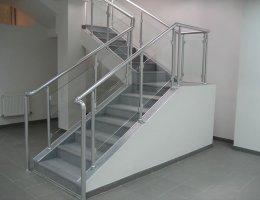 Ограждения из алюминия для лестницы